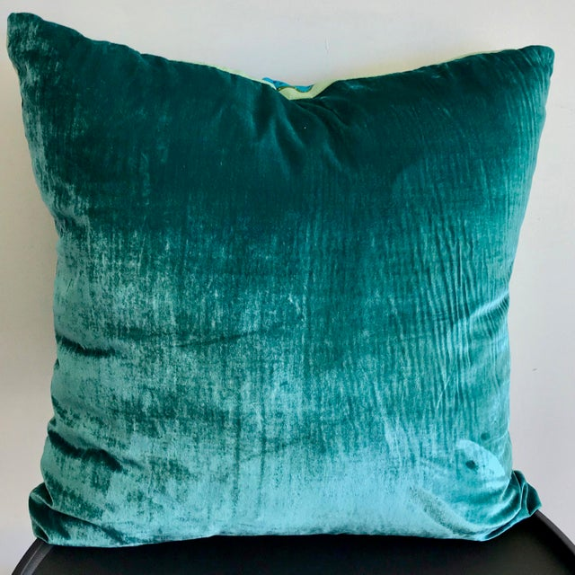 Add a pop of color and some serious vintage style to your room with this one of a kind pillow. Made from vintage scarves...