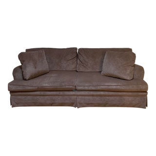 Taupe Fabric Baker Sofa For Sale