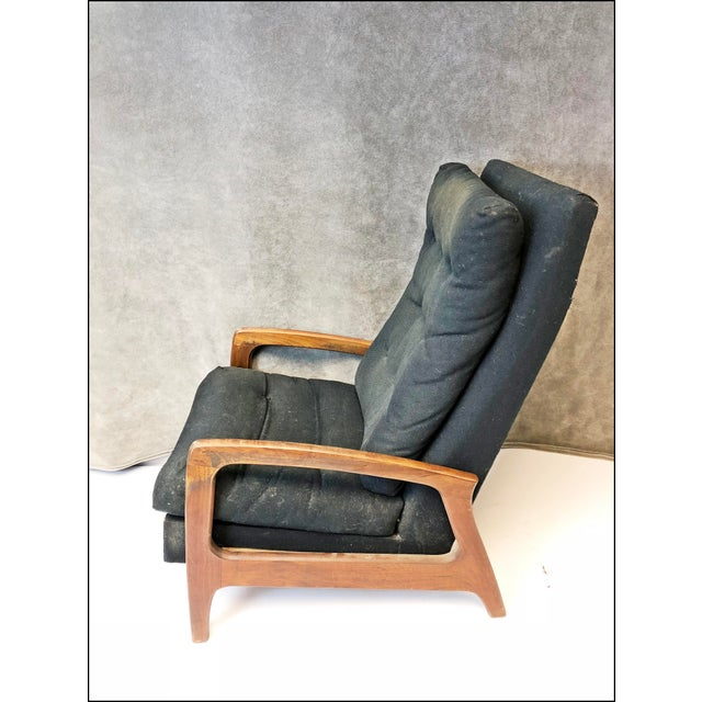 Mid Century Modern Upholstered Recliner - Adrian Pearsall for Craft Associates For Sale - Image 13 of 13
