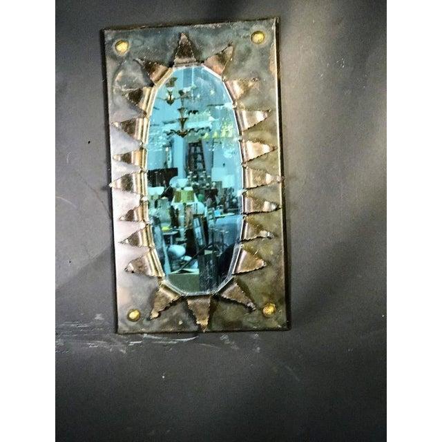 Brutalist Eye Form Mirror For Sale - Image 9 of 9