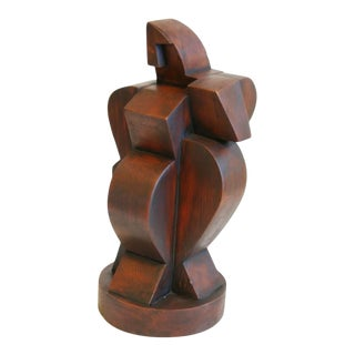 Early 20th Century French Cubist Style Sculpture Signed Atelier De Boulogne For Sale