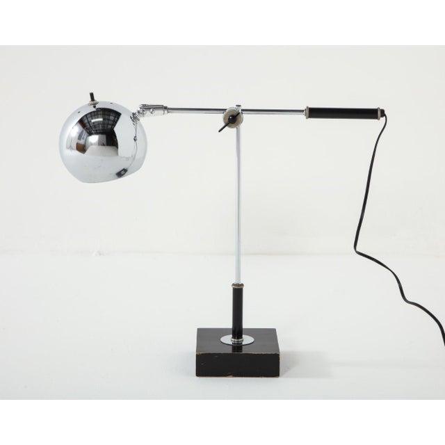Chrome Midcentury Adjustable Desk Lamp For Sale - Image 9 of 13