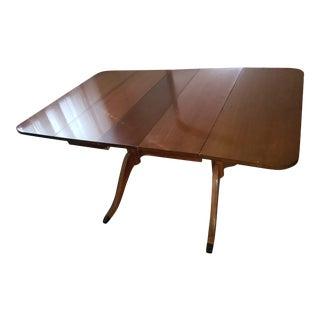 Vintage Duncan Phyfe Drop-Leaf Dining Table With Leaf Insert For Sale