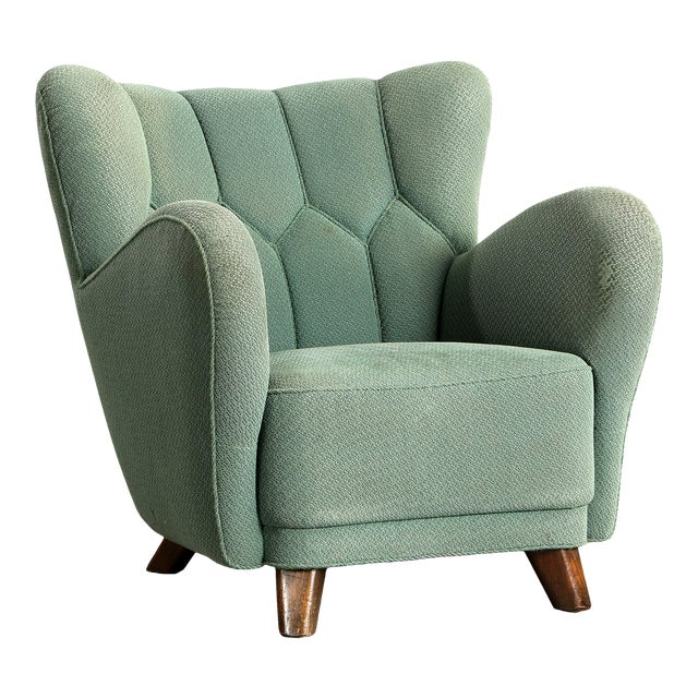 1940s Vintage Danish Club Chair For Sale