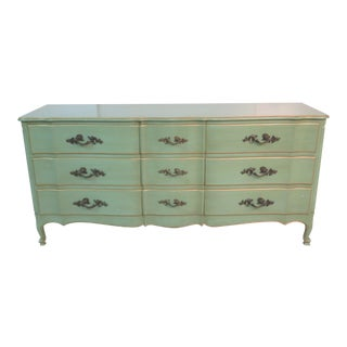 Louis XVI French Style Green Dresser
