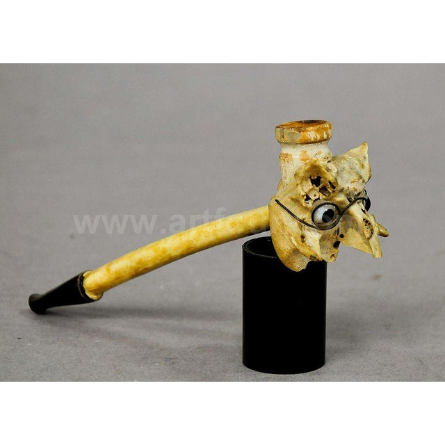 Early 20th Century A Small Whimsical Pipe Made Of Chicken Bones, Ca. 1900 For Sale - Image 5 of 6