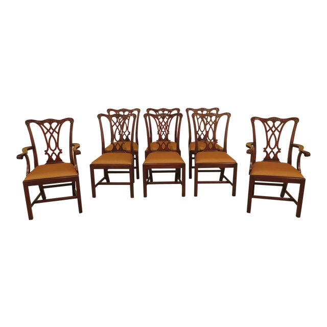 Henkel Harris Dining Room Furniture: 1990s Chippendale Henkel Harris Model Mahogany Dining Room
