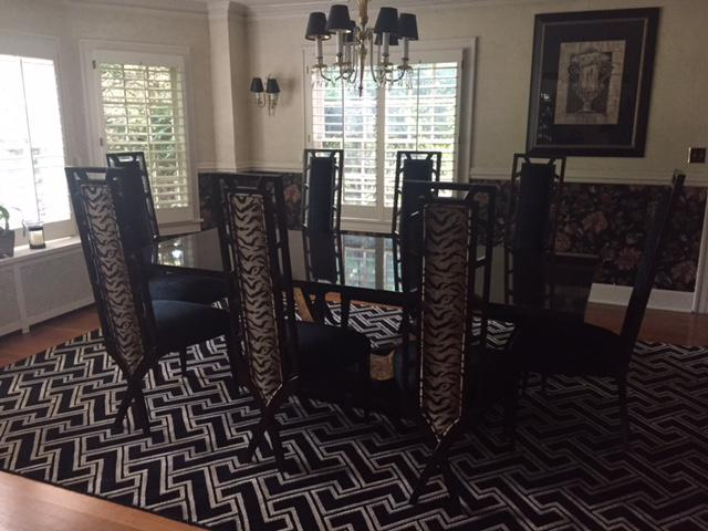 Dining Room Chairs Kansas City christopher guy dining room table & chairs - set of 9 | chairish