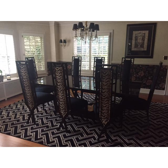 Christopher Guy Dining Room Table & Chairs - Set of 9 For Sale In Kansas City - Image 6 of 10