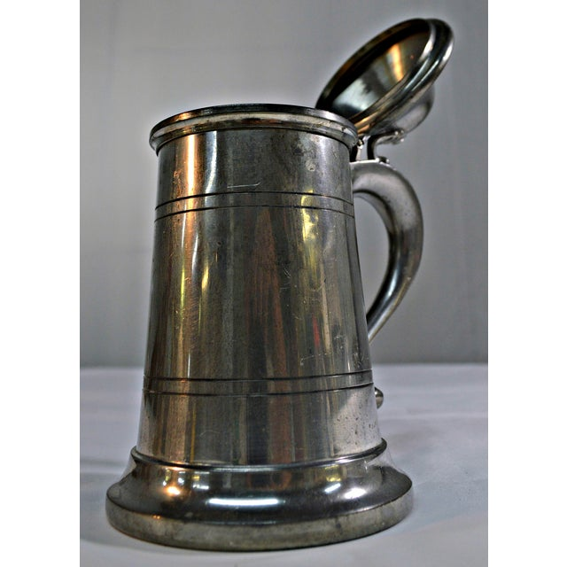 English Pewter Clear Bottom Beer Tankard Mug - Image 5 of 7