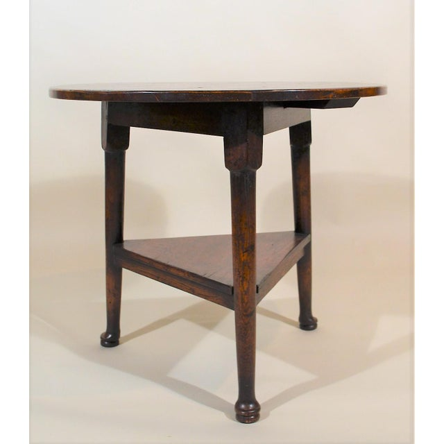 English Oak Triangular Cricket Table For Sale - Image 4 of 4