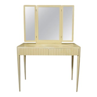 Italian Ivory Lacquered Vanity For Sale