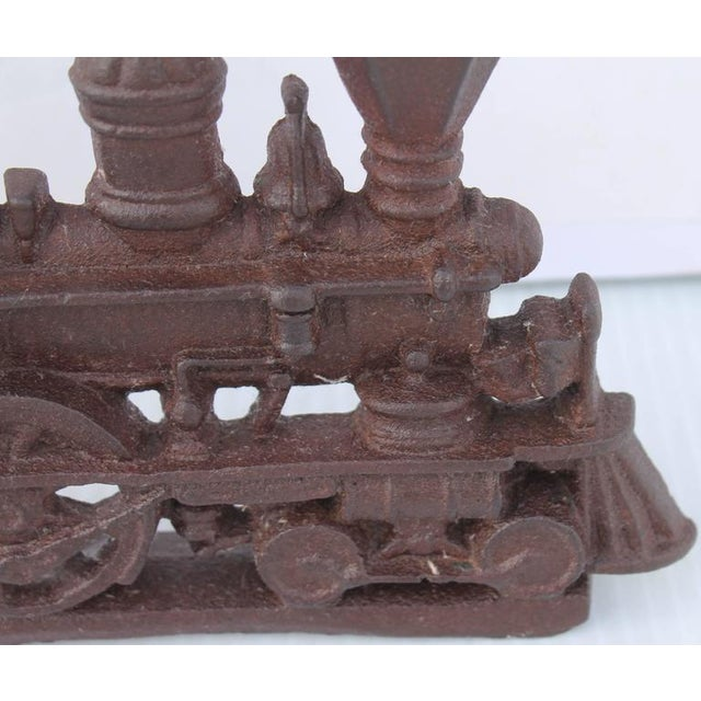19th Century Original Old Surface Iron Train Door Stop - Image 5 of 8
