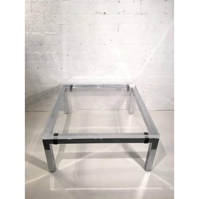Acrylic and Chrome Cocktail Table by Charles Hollis Jones - Image 3 of 7