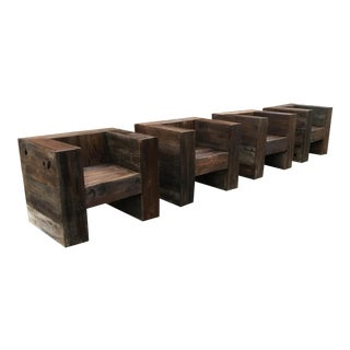 Custom Made Cube Chairs - Set of 4 For Sale