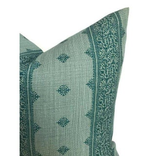 Fez Teal Linen Pillow Cover Preview