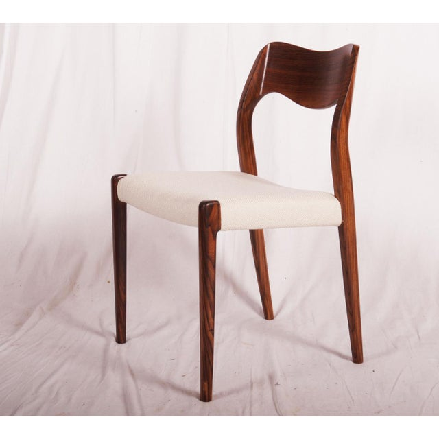 Model 71 Rosewood Dining Chairs by Niels O. Møller for JL Møllers, 1951 For Sale - Image 6 of 11