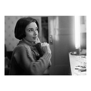 Audrey Hepburn at her dressing room mirror 1957