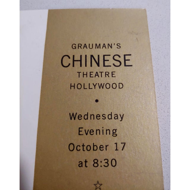"""""""Giant"""" Original 1956 Chinese Theater Hollywood Premiere Tickets - a Pair For Sale In Los Angeles - Image 6 of 7"""