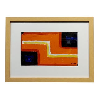 Conrad Buff - Orange Z Highway - Modernist Oil Painting For Sale