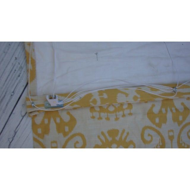 Set of 4 Custom Yellow Gold Cream Ikat Shades - Image 10 of 10