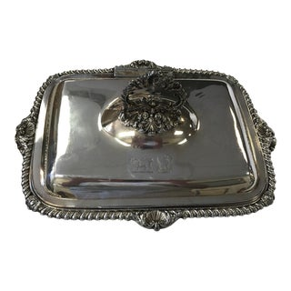 George III Sheffield Silver Plate Cheese Warmer