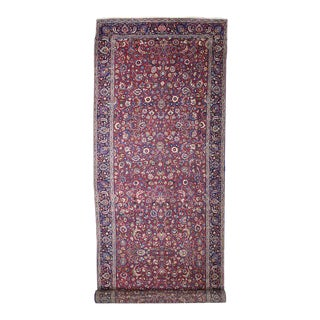 Antique Persian Mashhad Extra-Long Runner - 05'04 X 21'00 For Sale