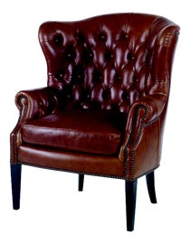 Image of Newly Made Brown Wingback Chairs