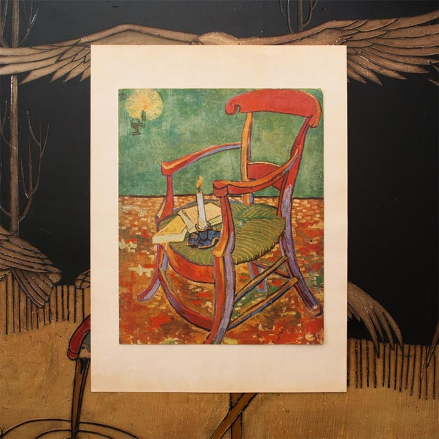 "Modern C.1940s Van Gogh, ""Gauguin's Armchair"" Parisian Lithograph For Sale - Image 3 of 11"