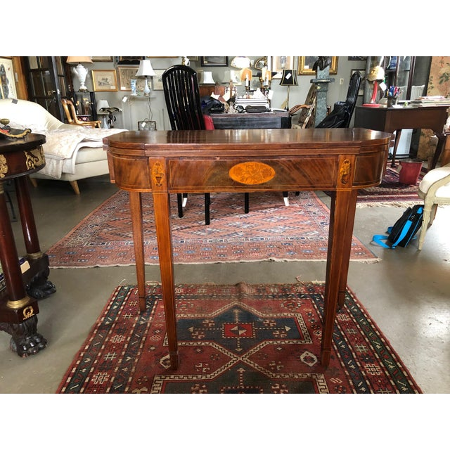 1780 Hepplewhite Inlayed Mahogany Game Table For Sale - Image 13 of 13