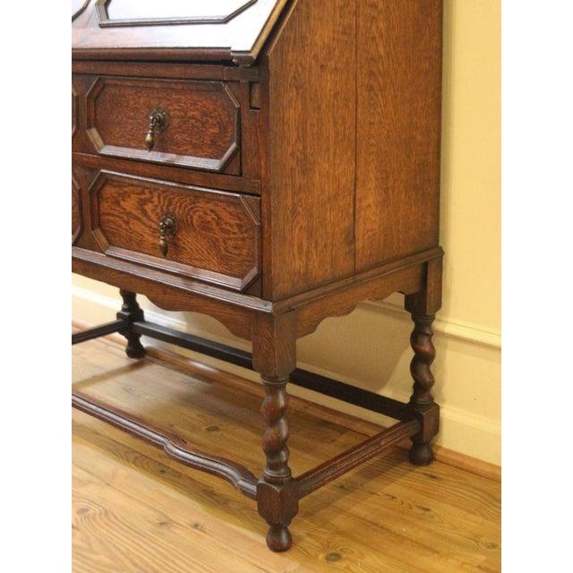 Jacobean 1910s Jacobean Oak Bureau Bookcase For Sale - Image 3 of 13