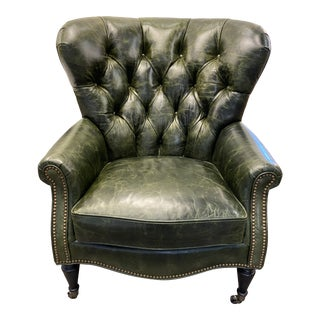 Century Wingchair Tufted Back For Sale