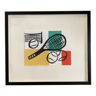 Tom Slaughter Tennis Themed Art Painting For Sale