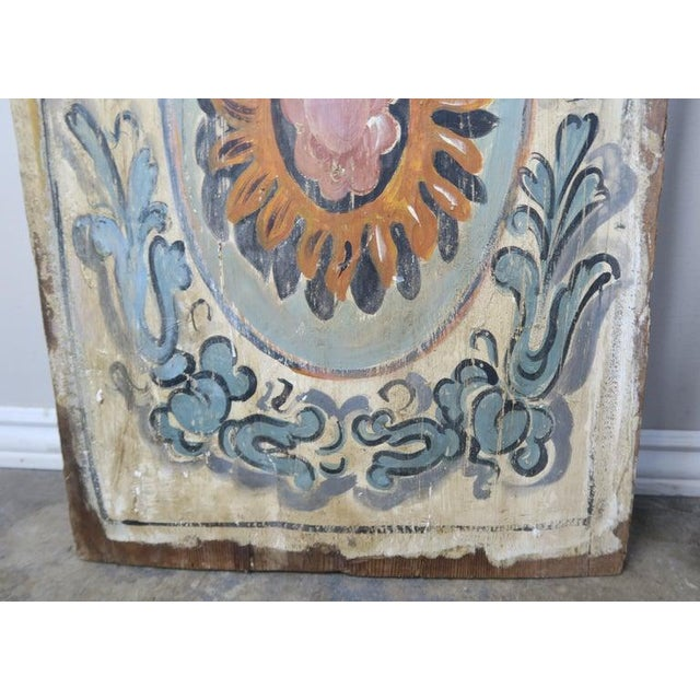 Italian Pair of 19th Century Painted Italian Panels For Sale - Image 3 of 10