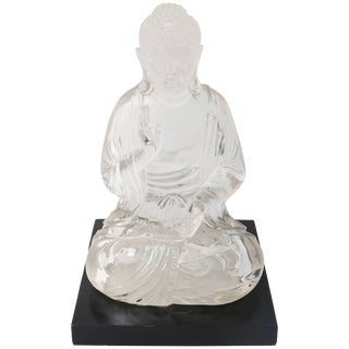Clear Lucite Seated Buddha For Sale
