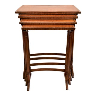 Antique English Satinwood Nest of Tables, Circa 1890's. For Sale
