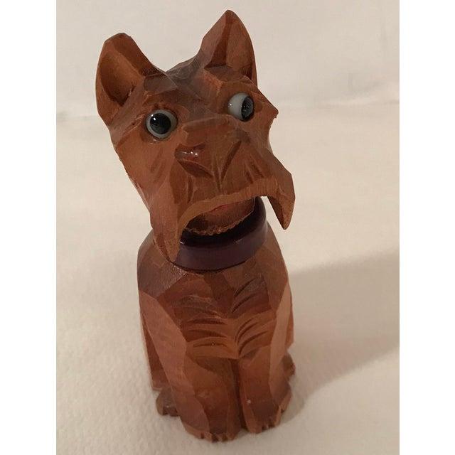Wood Vintage Carved Wooden Scottie Dog Figural Corkscrew For Sale - Image 7 of 8