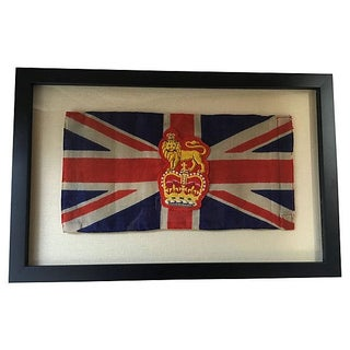 Framed King George Coronation Flag For Sale