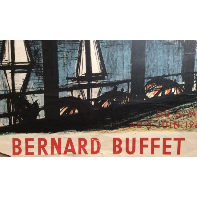 ffe19f2bcfd Original Vintage Bernard Buffet Galerie 65 Cannes 1960 poster Some  imperfections because the poster was displayed