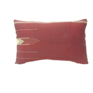 19th Century Persian Red Cotton Decorative Bolster Pillow For Sale