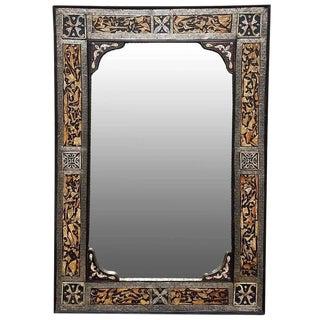 Chalet Moroccan Bone Mirror For Sale