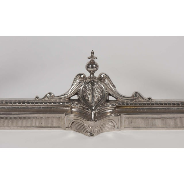 Antique Chrome Plated Chenet For Sale In New York - Image 6 of 9