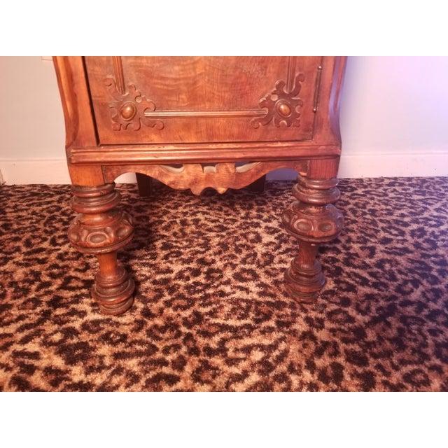 Baroque Williamsport Walnut Burl & Mahogany Vanity Table For Sale - Image 3 of 11