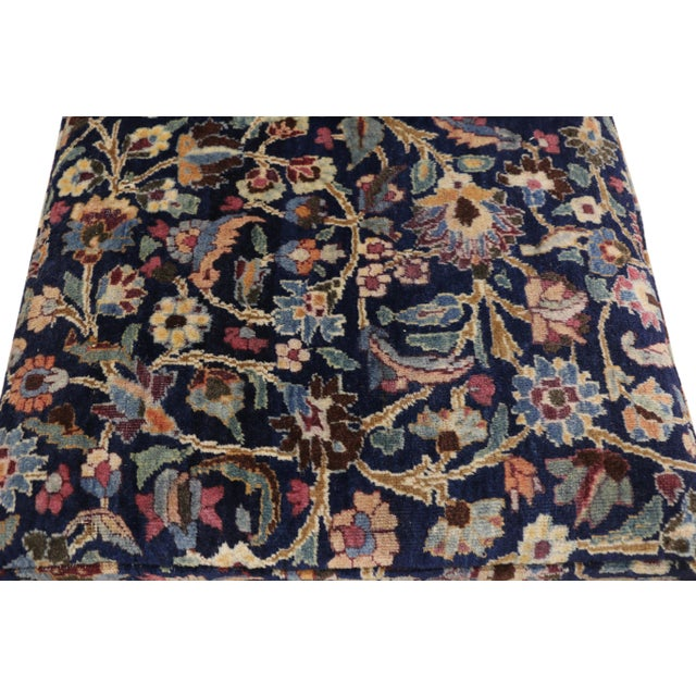 Billy Baldwin 1880's Persian Low Profile Slipper Chair or Petbed From Antique Khorassan Rug For Sale - Image 4 of 7