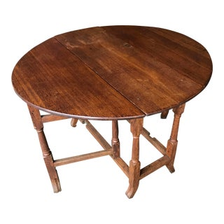 19th Century English Traditional Oak Gate-Leg Table For Sale
