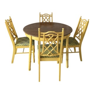 Hollywood Glam Faux Bamboo Dining Set