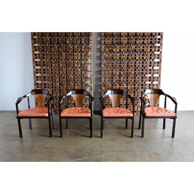 "Set of Four ""Horseshoe"" Chairs by Edward Wormley for Dunbar For Sale - Image 13 of 13"