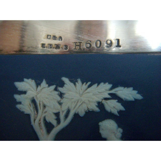Wedgwood Jasper Ware Cobalt Blue White Salad Bowl - Image 3 of 6