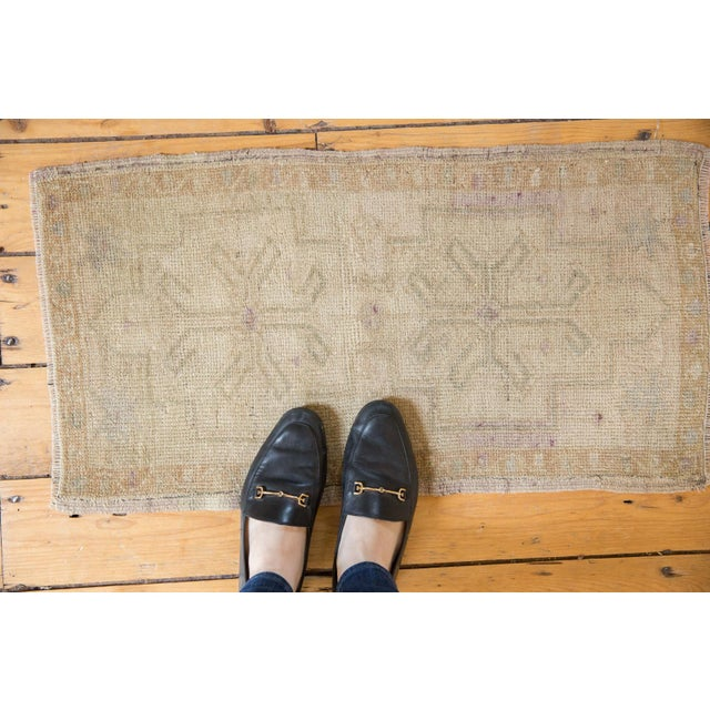 """Islamic Vintage Distressed Oushak Rug Mat - 1'6"""" X 2'9"""" For Sale - Image 3 of 9"""