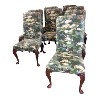 Baker Stately Homes Collection Dining Chairs- Set of 8 For Sale